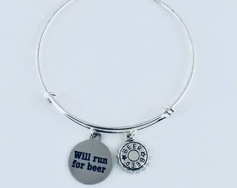 Beer Charm Bracelet, Beer Charm Jewelry, Beer Lover Bracelet, Gifts for Beer Lovers, Craft Beer Lover Jewelry, Beer Lover Jewelry