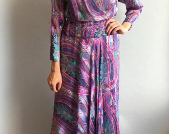 VTG 1980s Silk Dress