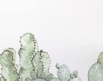 Cactus Print, Plant Print, Cactus Art, Desert Art, Cactus Painting, Desert Painting, Plant Art, Cactus Artwork, Desert Vibes, Desert Decor