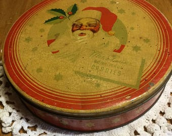 Antique Mrs.Stevens Hand Made Candies Tin Chicago from the 1940's