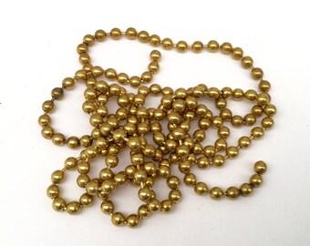 Brass Ball Chain, 5 Feet, Mosaic Supply Size #13
