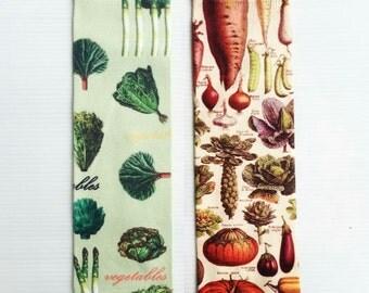 VEGGIEs & MUSHROOMs pattern printed socks - Hand painted design