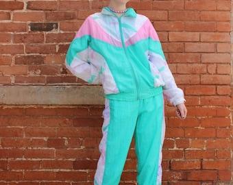 Pastel Two-Piece Vintage 1990s Track Suit