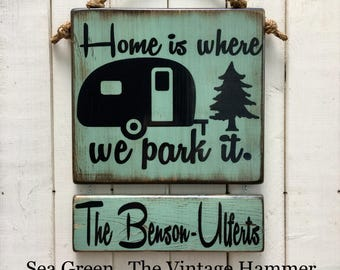 Camper sign, RV sign, wood sign sayings, customizable, camping sign, oudoor sign, custom name sign, weather sealed, vintage camper, camping