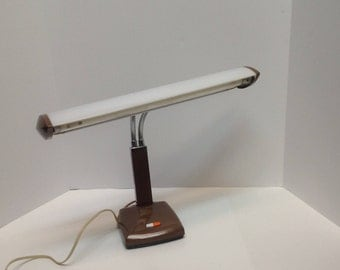 Double gooseneck desk lamp, gooseneck dorm desk lamp, flexible desk lamp, vintage college desk lamp, retro industrial light desk lamp