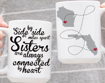 Sister Gift Idea - Sisters Mugs - Personalized Mugs - Gift For Sister - Coffee Cup - Custom Mug - Sister Gift - Cute Mug - Best Sister Gift