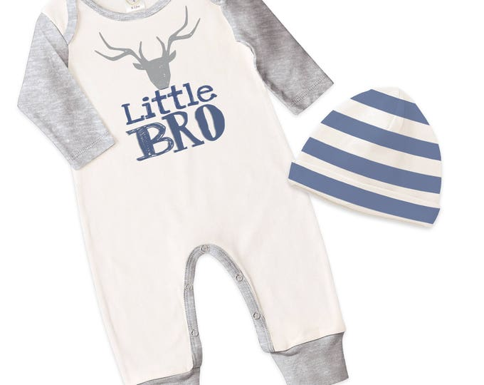 Little Bro Take Home Romper, Baby Boy Coming Home Romper, Baby Little Brother Bodysuit Hat, Little Bro Romper, TesaBabe RC810IYHG0000 Bro