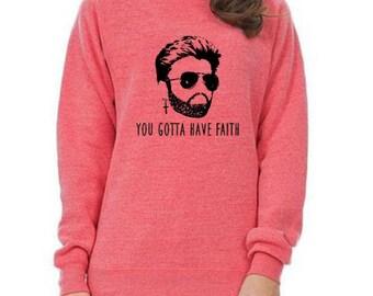 George Michael sweatshirt fleece crew neck gotta have faith Wham singer