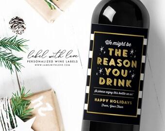 Boss Christmas Gift, Christmas Gift for Boss, Bosses Day Gift, Boss Gift, Boss Day Gift for Her, Boss Day Gift for Him, Boss Wine Label
