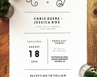 Minimalist Wedding Invitation