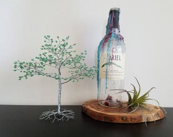 Wire Tree Sculpture - Bonsai Tree - Beaded Tree