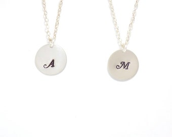 Sterling Silver initial necklace, Personalized jewelry, Initial necklace, personalized necklace, bridesmaid gift, necklace, monogram jewelry