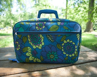 1960s Floral Overnight Bag - Made in Japan