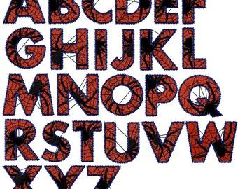 Spider alphabet iron on or sew on patch Spider letter patch Letter iron on patch Spider patch Letter sew on patch Alphabet iron on patch