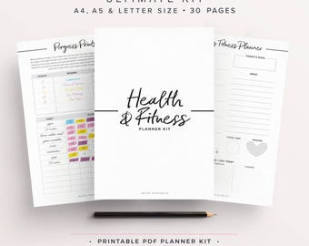 Fitness Planner, Workout Planner, Health Planner, Wellbeing Planner, Fitness Journal, Weight Loss Planner, Fitness Tracker, Health & Fitness
