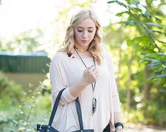 Cowhide Satchel - Black Leather Purse - Black Leather Handbag - Cowhide Bag with Pockets, Zipper, & Tassel