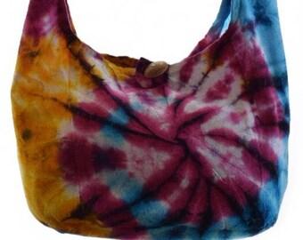 Girls Tie dye bag,  Small Tie dye bag,  Hippy, Hobo,  Boho, Girls  Gypsy bag ,  Sling,  Shoulder, Thai hobo,  Girls boho bag,