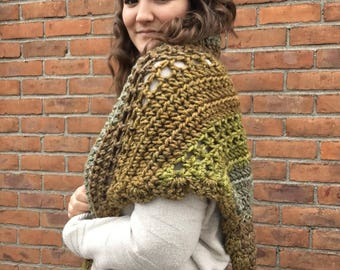 Into The Woods Wrap // Triangle Scarf // Crochet Shawl // Multiple Colors