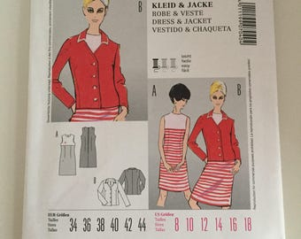 Burda Style 7040 1960s Reproduction Sewing Pattern Sizes 8-18