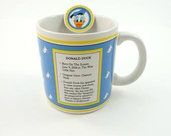 Vintage 80s Donald Duck Mug, Donald Duck Gifts, Disneyland Mug, Disneyland Souvenir, Disney Collectibles, Walt Disney Mug, Disney World Mug