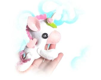 Flying Unicorn PDF sewing pattern-DIY-Unicorn toy pattern-Nursery decor-Instant download-Baby's mobile toy-Felt Unicorn-Fantasy animals