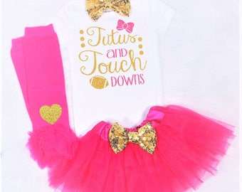 tutus and touchdowns outfit baby girl football outfit glitter football outfit baby football outfit girls football outfit girl football shirt