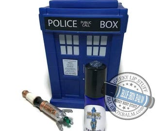 """Sonic Scent - FANGIRL - """"Osgood"""" Doctor Who Inspired Body Scent - Chocolate Orchid Fragrance in a Blue Glass Roller Bottle"""