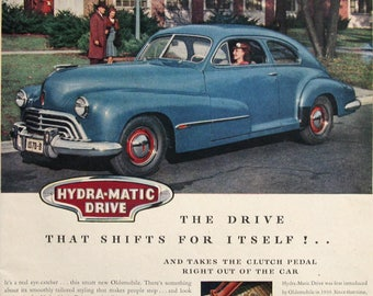 1946 Oldsmobile Ad - Smart Car With Hydra Matic Drive - 1940's Olds Ads