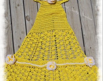 Princess Dress Blanket , Princess Blanket, Princess Dress,  Belle Blanket, Belle Dress, Princess  Belle