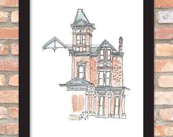 Kent Masonic Building - Urban Sketch