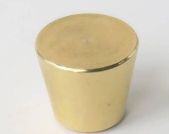 Brass Hardware: Small Brass Cone Drawer Pull Cabinet Knob