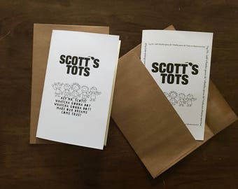 Scott's Tots Greeting Card Michael Scott Quote The Office TV Show Hey Mr. Scott! Whatcha Gonna Do? Make Our Dreams Come True!