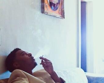 Nostalgia, Portrait Art, Black Portrait, Black Artists, Portrait Wall Art, Urban Art,  Urban Photography, Urban Wall Art, Black Man Art