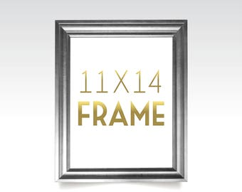 11 x 14 FRAMES . Rose Gold Silver White Black Rustic Solid Maple Wood Picture Frame No Glass . 5 x 7 to 24 x 36 Sizes & Printing available