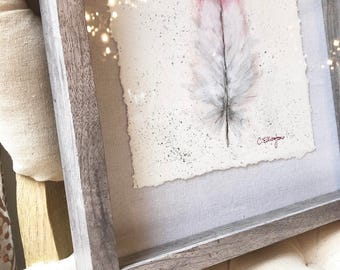 Flamingo Feather, ORIGINAL ART