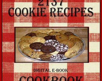 2137 Delicious Cookie Recipes E-Book Cookbook Digital Download
