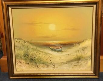 H. Gailey Original Seascape Oil painting