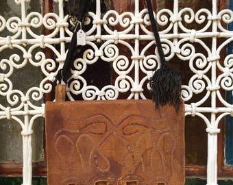 Very Unique Moroccan Leather Bag