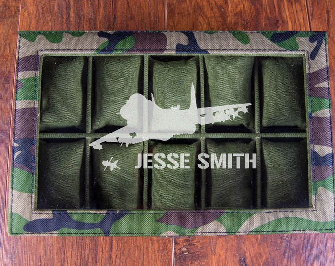 Air Force Gift, Keepsake Watch Box, Air Force Christmas Gift Idea, Air Force Fighter Jet Bomber, Personalized Box, Military Case, Organizer