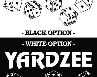 Yardzee Decal - 2 Colors - 3 sizes available - Fast shipping!