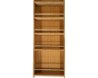 Solid Oak Larder Rack Internal Spice Rack for Pantry Cupboard 900mm tall x 100mm deep, 5 Shelves for Bottles & Jars - 300mm to 500mm wide