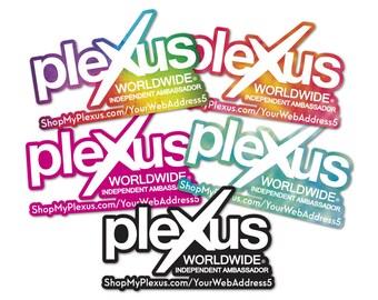 """Plexus Worldwide Window Customized Custom Decal Print Outline 11.5"""" x 7"""" (Glossy)"""