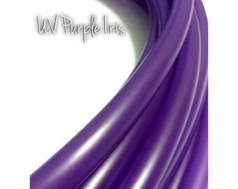 """11/16"""" UV Purple Iris Colored Polypro Hula Hoop// Dance Hoop// Performance Hoop//Goldilocks Orchid Lilac Lavender Amethyst"""
