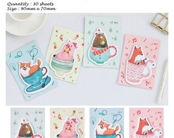 Animal Cup Post IT Notes Sticky Memo