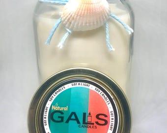 Chardonnay 12oz Mason Jar Soy Wax Organic Candle