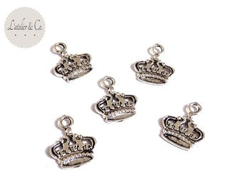 10 charms Crown silver beauty A17 18x15mm