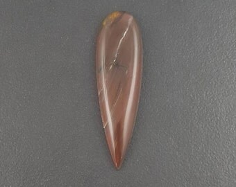 Petrified Wood Cabochon, 66x19mm, large cabochon, large cab, brown red black white yellow, long teardrop cab, talon cabochon, mgsupply