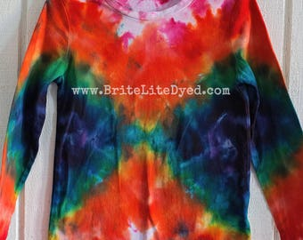 YOUTH SMALL 6-6X - Long Sleeve Shirt - Tie Dye Shirt - Tye Dye Shirt - Youth Clothes - Teen Clothes - cotton shirt - winter shirt - hippie