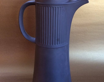 Dansk IHQ Denmark Brown Pottery Coffee Pot Mid Century Vintage no lid