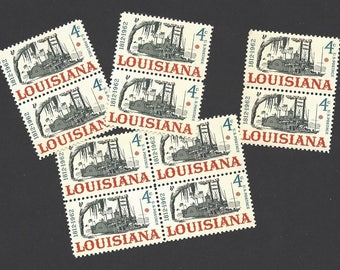 10 Unused US Postage Stamps 1962 Louisiana Statehood Steamboat 4 Cents Each to Mail Envelopes Collect or DIY Craft Supply Scott 1197 ~ 8401